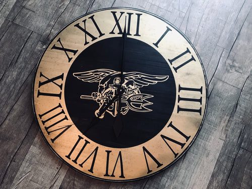 Navy Seal Trident clock 17""
