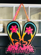 Welcome flip flop door hanger