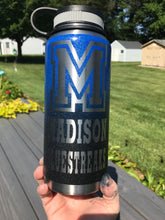 School water bottle with script monogram 32oz