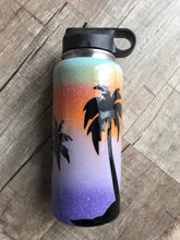 Dream tropical palm tree water bottle 32oz