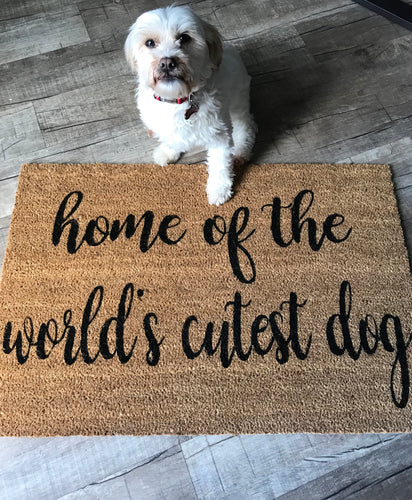 World's cutest dog doormat
