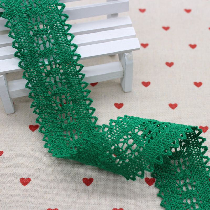 1m Green Lace Gift Diy Ribbon Lace Cotton Ribbons For Wedding Favors