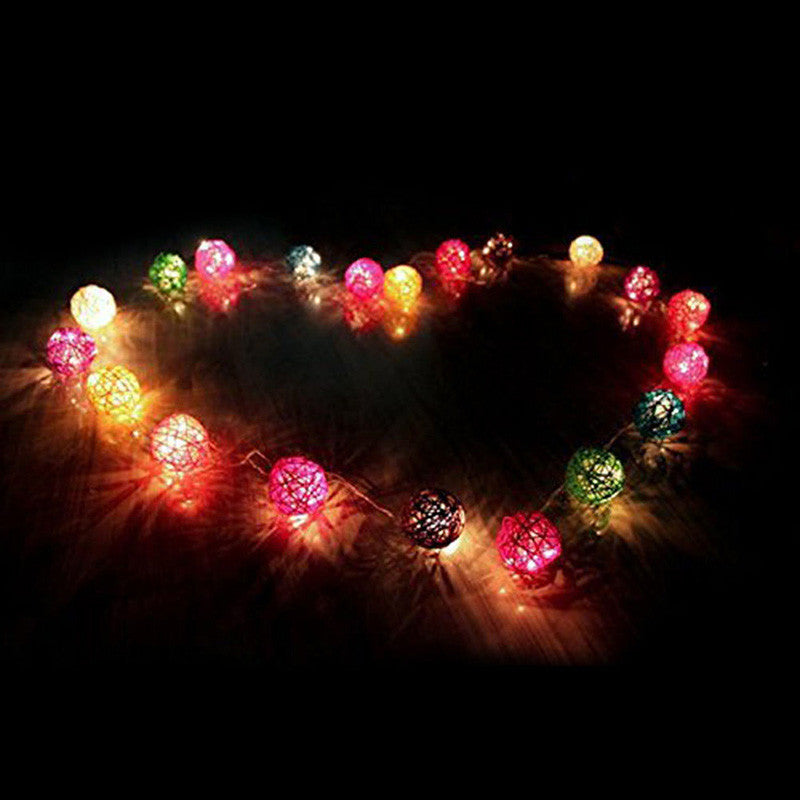 22m 20 led christmas lights rattan ball string fairy lights halloween mariage wedding marketersupply