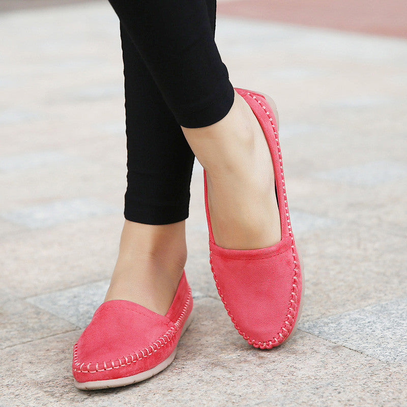 2015 New Fashion Soft Women Loafers Platform Lovely Girl Flat Shoes