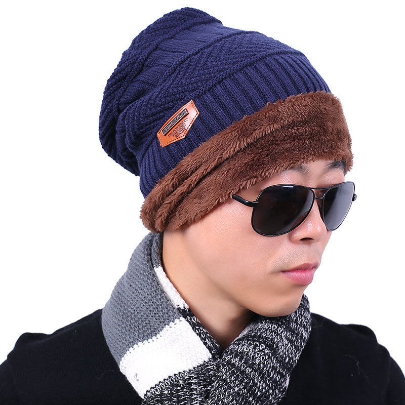 ... 2016 new knitted hat fashion Beanies Knit Men s Winter Hat Caps  Skullies Bonnet For Men Women ... d33f4488f0f