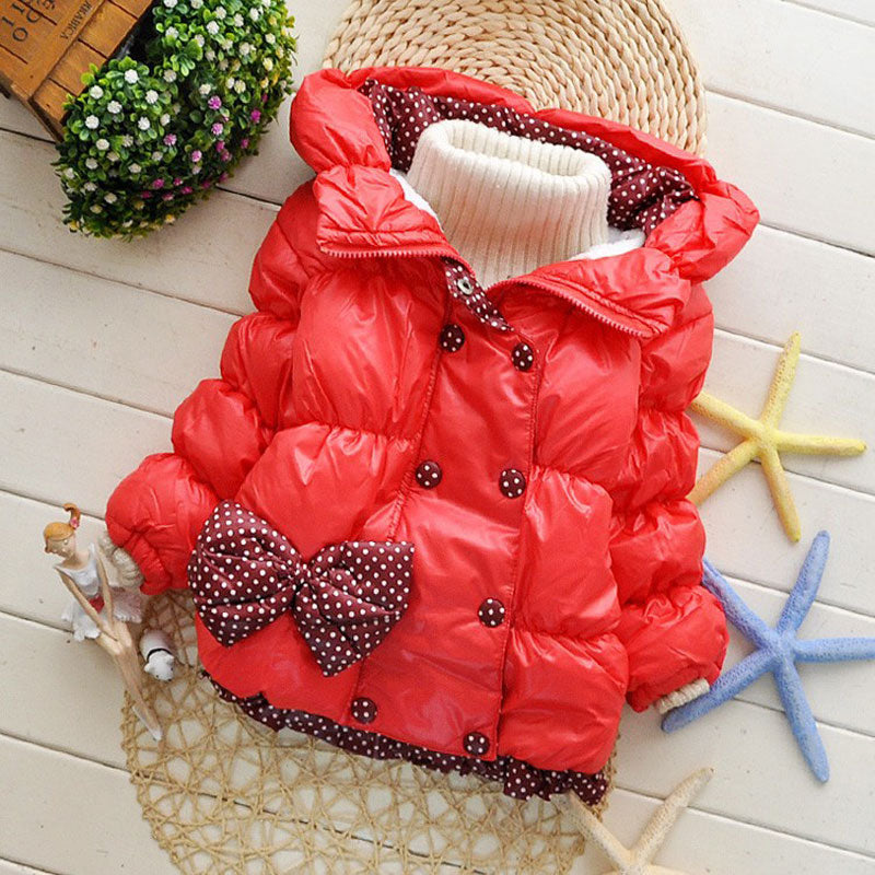 0667ee6a71a3 2017 Kids Baby Girl Winter Coat Jacket Children Outerwear Hooded ...