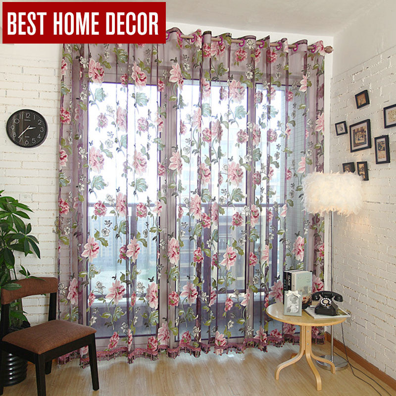 Best Home Decor Drapes Sheer Window Curtains For Living Room The