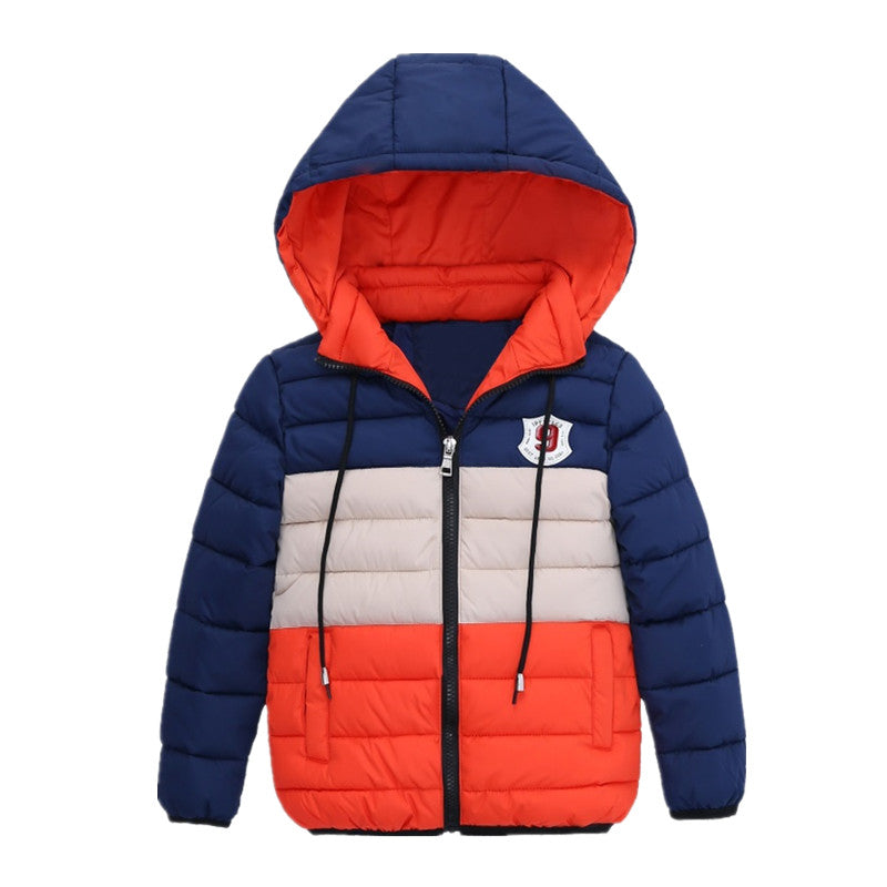 3df730856 Boys Blue winter coats   Jacket kids Zipper jackets Boys thick ...
