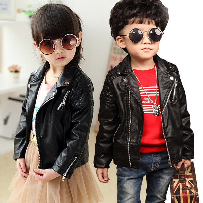 fe54d33b23cf DreamShining Spring Kids Jacket PU Leather Girls Jackets Clothes ...