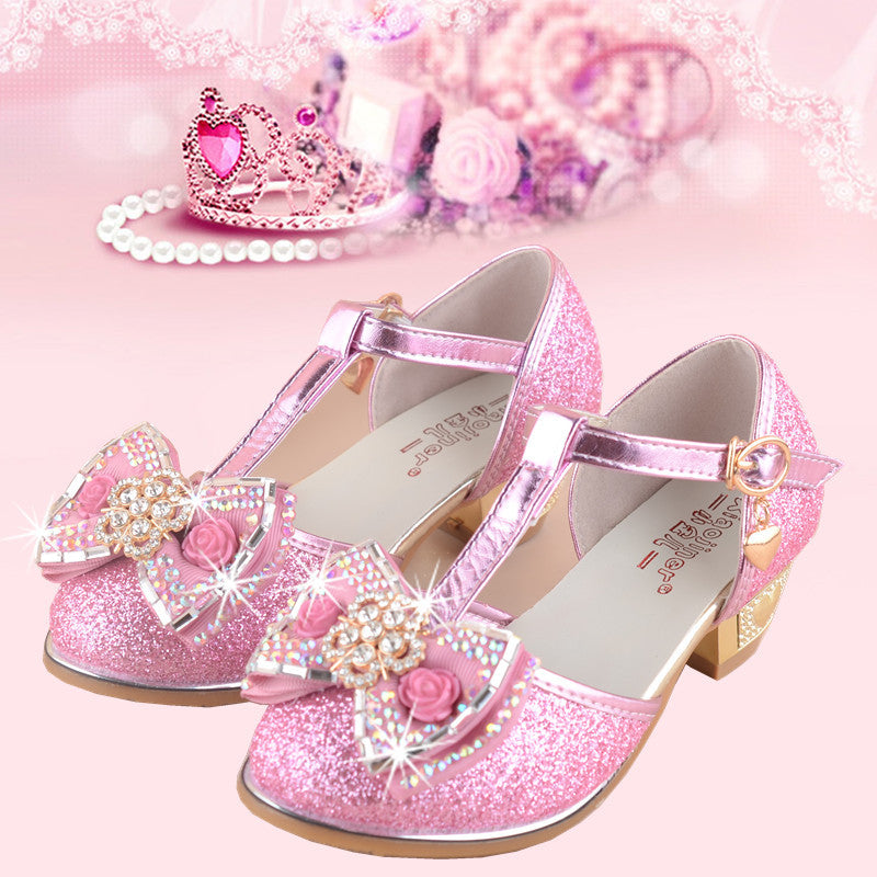 abaed9424d3c ... Girls Princess Sandals 2017 New Summer Bowknot Children s Wedding Sandal  for Kids Dress Shoes Party Shoes ...