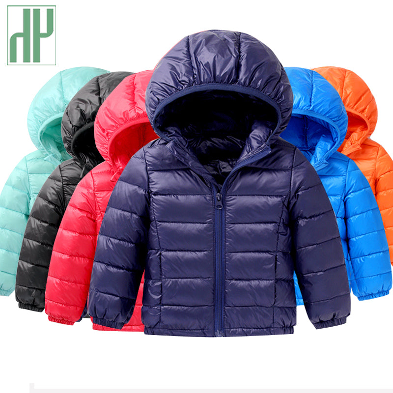 18ef283feeb63 ... HH 1-5Y Light children s winter jackets Kids 90% Duck Down Coat Baby  Winter ...