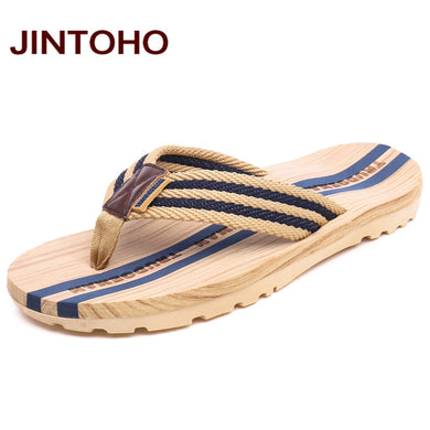 ab494b67173c4 JINTOHO Fashion Men Flip Flop Sandals Summer Flip Flops Slippers Water  Beach Shoes Brand Massage Male