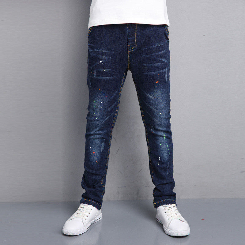 b5e1a9d5b Jeans For Teenagers Baby Boy 5 6 7 8 9 10 11 12 13 Years Spring Kids ...