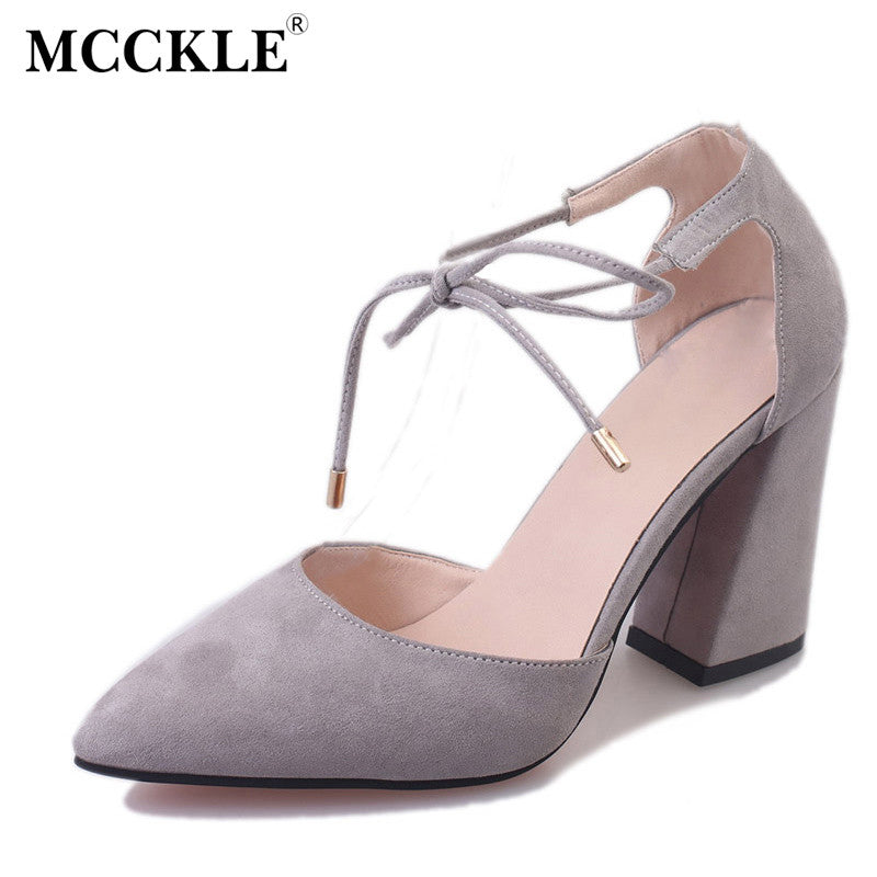869d67e49f6 ... MCCKLE New Fashion Women Wedding Shoes Ladies Lace-up Party High Heels  Sandals Women Sexy ...