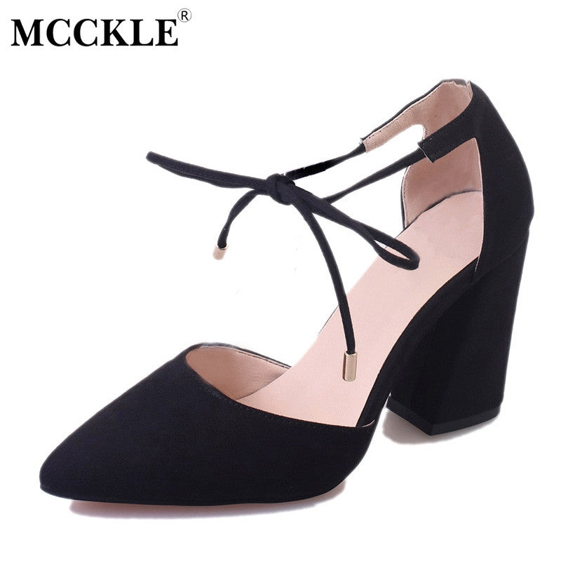 f3e6ae8652f MCCKLE New Fashion Women Wedding Shoes Ladies Lace-up Party High Heels  Sandals Women Sexy ...