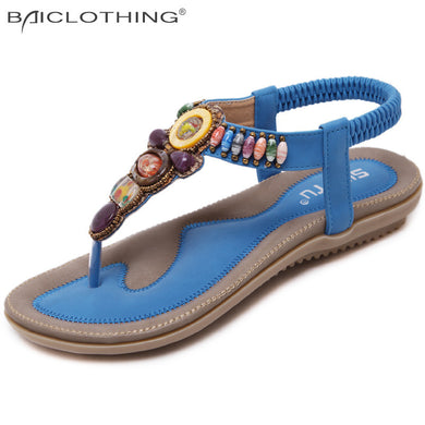 cb2b00ac21d New Arrival Summer Flat Sandals Ladies Bohemia Beach Flip Flops Shoes  Gladiator 2017 Fashion Women Shoes
