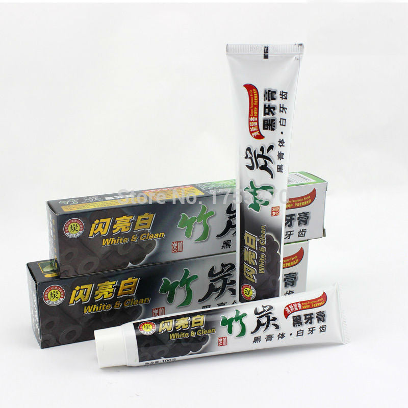 newest charcoal toothpaste whitening black bamboo charcoal