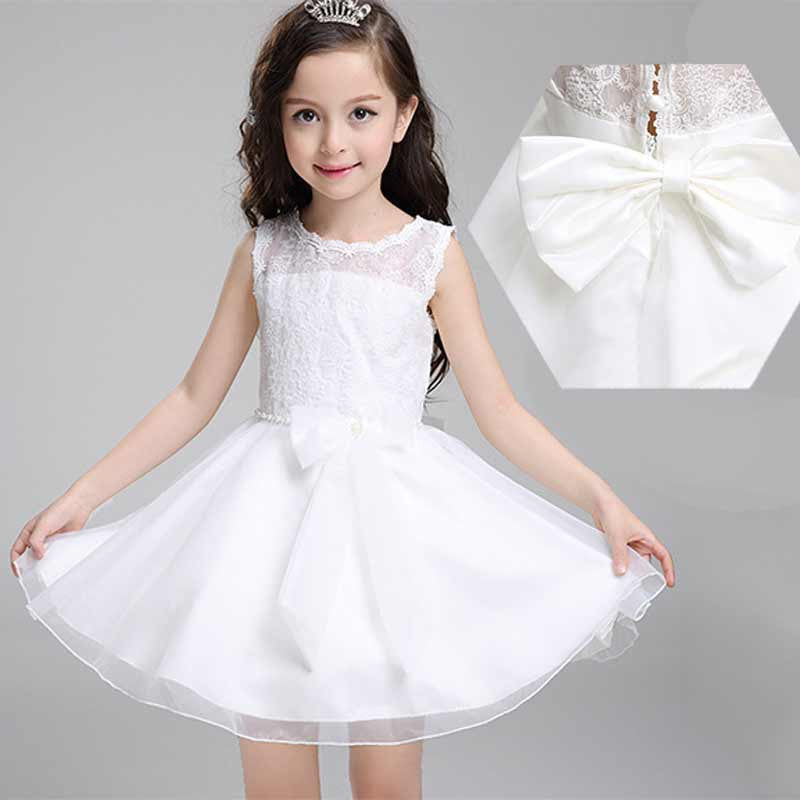 0baa92751 Princess Girls Dresses Summer 2016 Bow Baby Girl Party Dress Costume ...