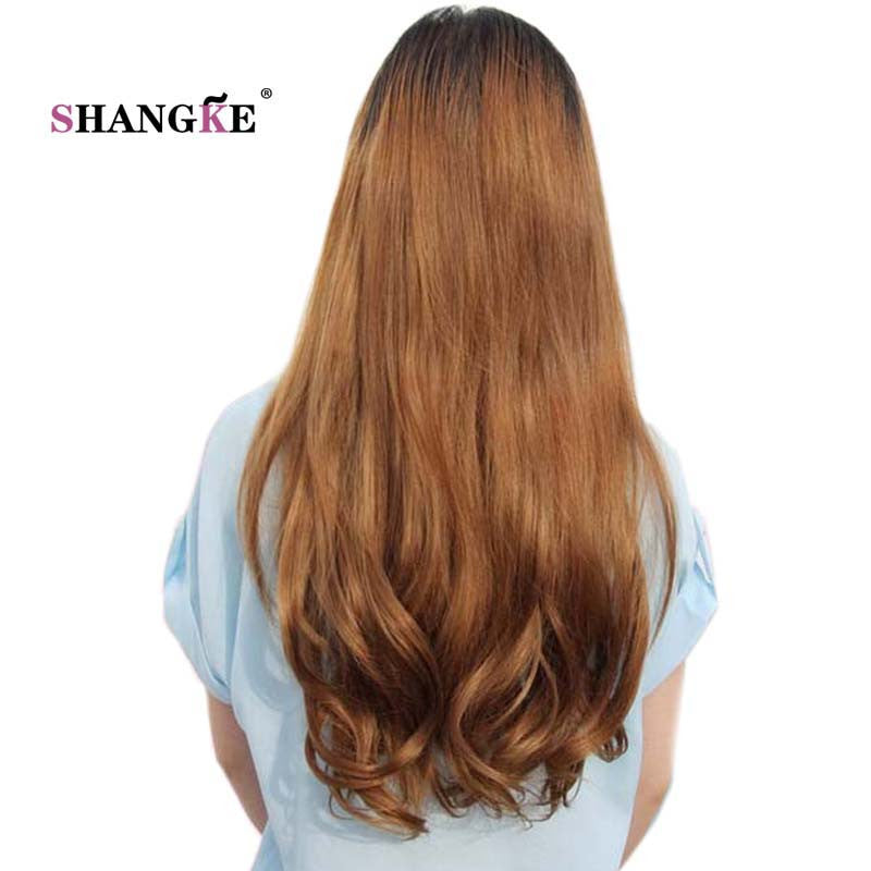 Shangke Long Wavy 2 Clips In Hair Extensions Natural Clip In Fake