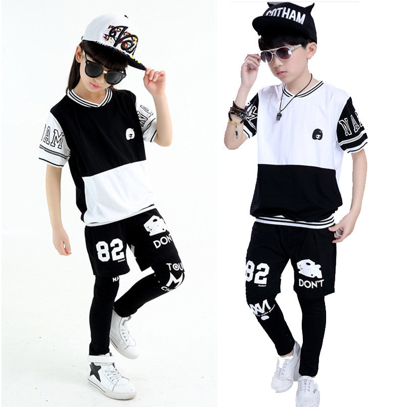 abce1a088 Teenage Girls Clothing Sets Cotton Letter Hip Pop Boys Outfits 3Pcs ...