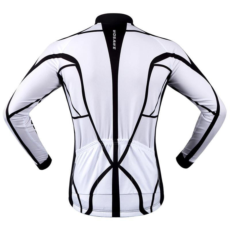 96f0505a3 ... WOSAWE 100% POLYESTER Men s Cycling Jersey Long Sleeve Outdoor Sports  Bicycle Cycle Clothing Quk Dry ...
