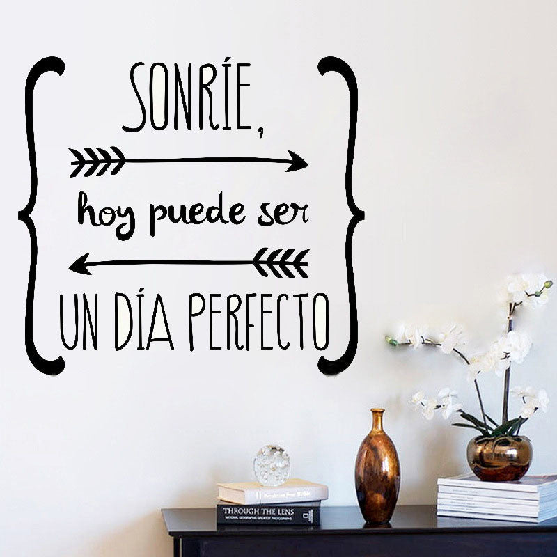 wall stickers spanish quote vinyl walls decals poster wall art home