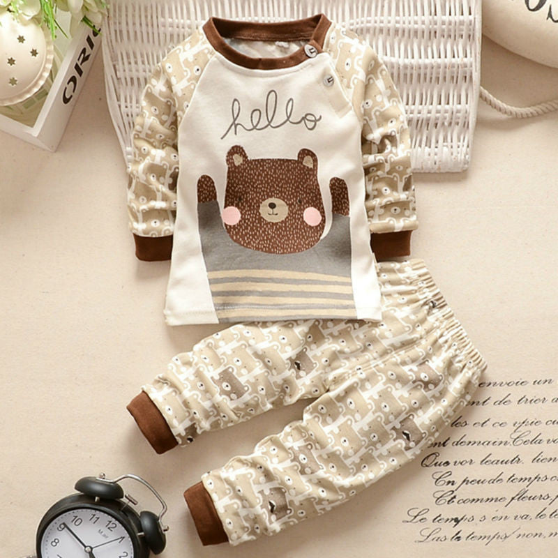 a6f792694741 Winter Spring Cotton Baby Girl Clothes 2PCS Long Sleve Sets Newborn ...