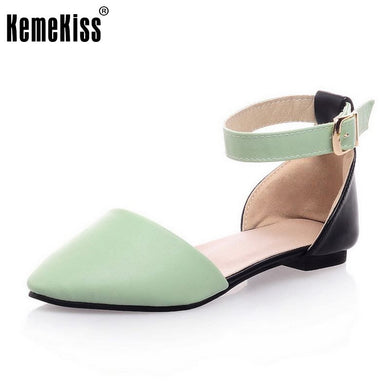 Women Flat Sandals Fashion Ladies Pointed Toe Flats Shoes Womens High  Quality Ankle Strap Shoes Leisure 6bb9b6f4f260