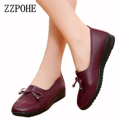 fcc5db66ed3fe9 ZZPOHE Spring new comfortable middle-aged shoes round-the mother soft-bottomed  women