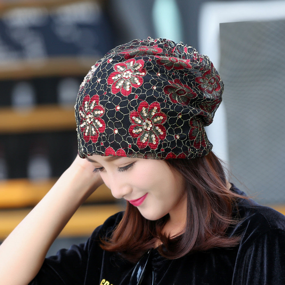 ... girl beauty beanie designer customized novelty winter hats for women  bling crystal pattern casual skullies hat ... df3d2208e7e