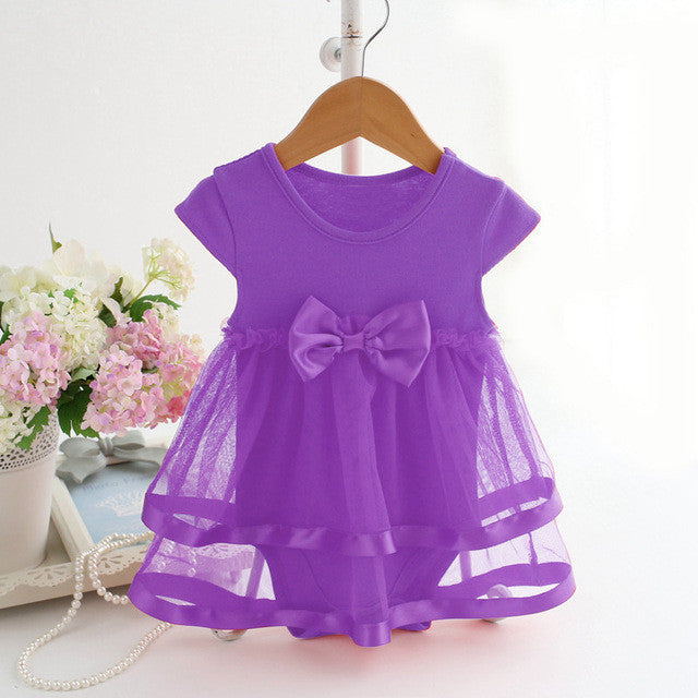 43f9785a6 NewBorn Baby Dress Summer Cotton Bow Baby Rompers For girls Summer ...