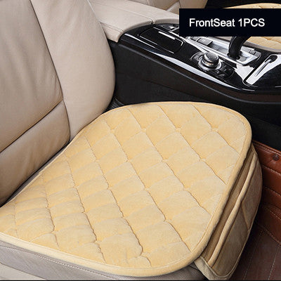 Karcle 1PCS Universal Plush Car Seat Covers Protector Driver Chair Pad Styling Front Back