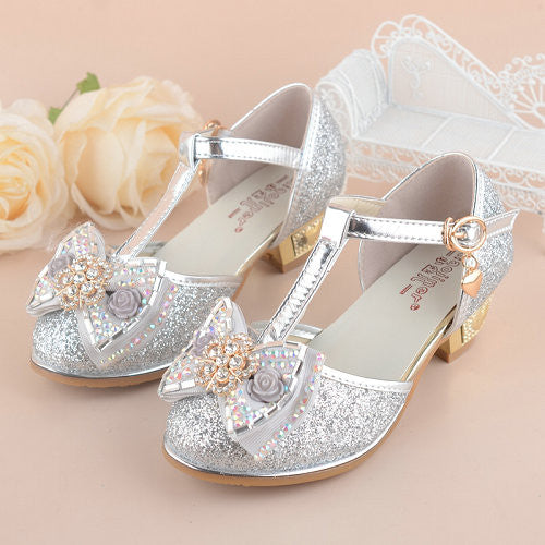 e0f99a9821d4 Girls Princess Sandals 2017 New Summer Bowknot Children s Wedding Sandal  for Kids Dress Shoes Party Shoes ...