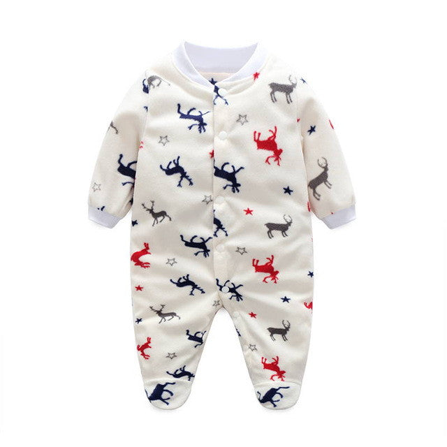 4f91f3d46 Unisex Baby Clothes Baby Boy Girl Footed Rompers Infant Animal Baby ...