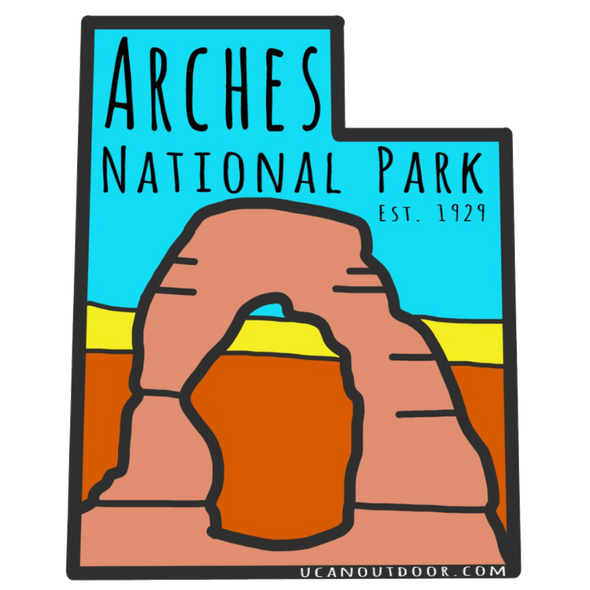 Arches National Park StickerUCAN Outdoor Co.