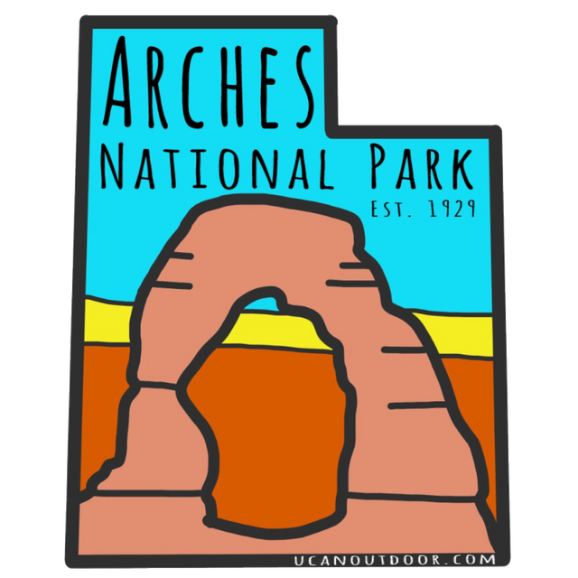 Arches National Park Sticker - UCAN Outdoor Co.