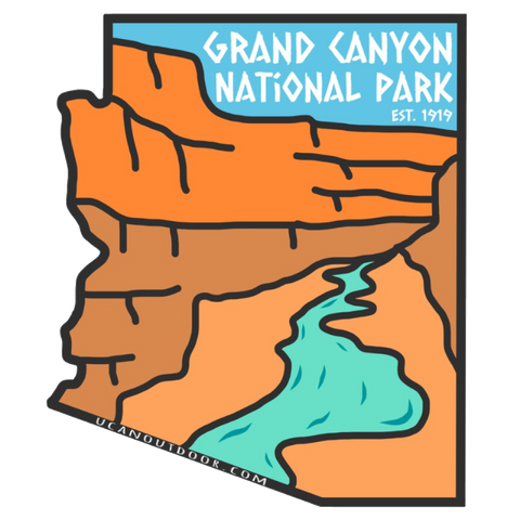 Grand Canyon National Park Sticker - UCAN Outdoor Co.