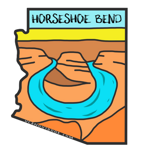 Horseshoe Bend Sticker - UCAN Outdoor Co.
