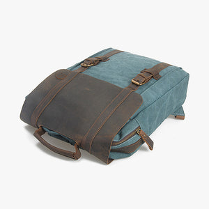 Crazy Horse Leather Canvas Travel Backpack - UCAN Outdoor Co.