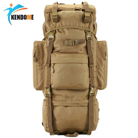 Hot 70L Big Capacity Outdoor Sports Bag Military Tactical Backpack Hiking Camping Waterproof Wear-resisting Nylon Rucksack