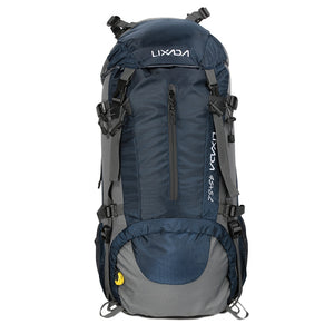 Lixada 50L Large Waterproof Travel Bags Nylon Rucksack Outdoor Sport Backpack with Rain Cover Camping Climbing Trekking Knapsack