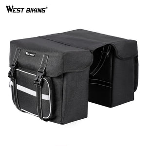 WEST BIKING Cycling Bags Bicycle Pannier Large Capacity Luggage Carrier Basket Rear Seat Rack Trunk Bags MTB Bicycle Accessories
