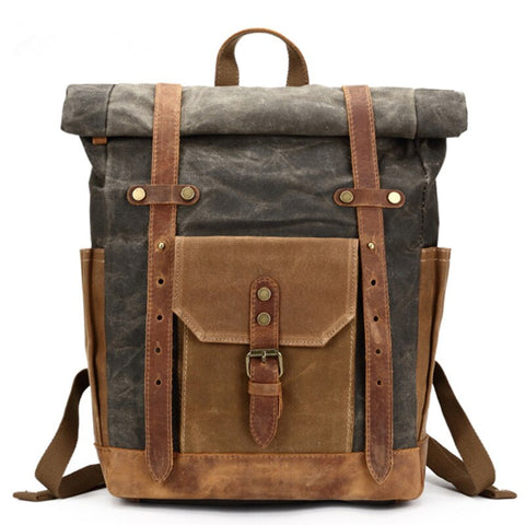 Austin Leather Canvas Travel Backpack - UCAN Outdoor Co.