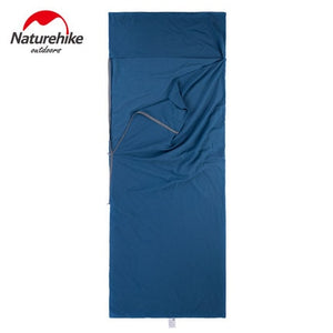 Naturehike Outdoor Adult Envelope 100% Cotton Sleeping Bag Liner Single Sleeping Bags Can Splicing Camping Bussiness Travel 1PC