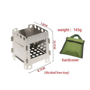 Portable Wood Burning Outdoor Camping Stove Lightweight Backpacking Stove Outdoor Household Cooking Camping Cooker Burners