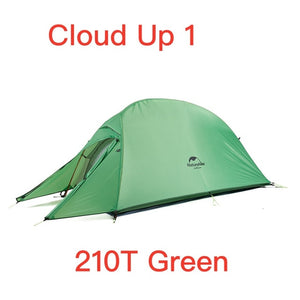 Naturehike Cloud Up Serie 123 Upgraded Camping Tent Waterproof Outdoor Hiking Tent 20D 210T Nylon Backpacking Tent With Free Mat