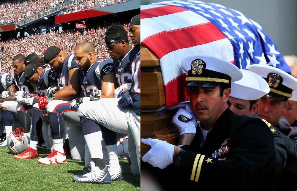 NFL DISRESPECTING VETERANS AND THE FLAG.