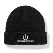 Project War Path - Black Beanie