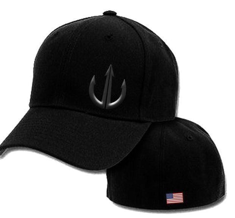 Black on Black Project War Path Flex Fit Ball Cap-Hats-Project War Path-Project War Path