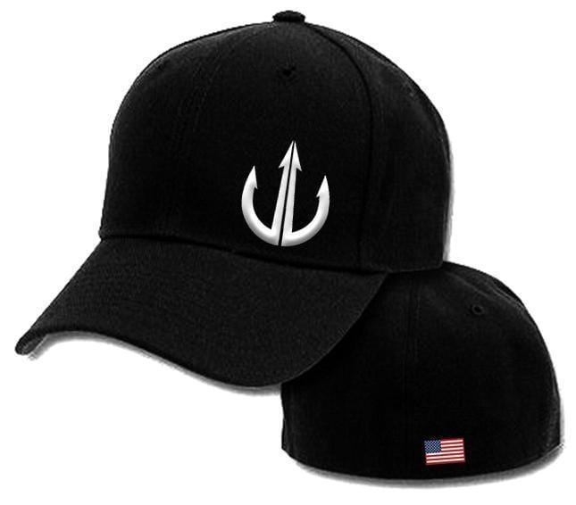 Flex Fit Cap, White On Black - Project War Path